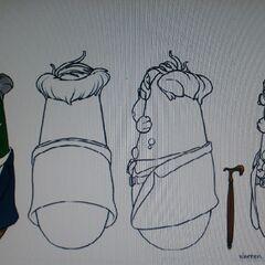 Concept art for Mr. Nezzer as Warren Muffet in