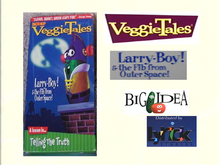 VeggieTales Larry-Boy! & the Fib from Outer Space! VHS Lyrick Studios 2000