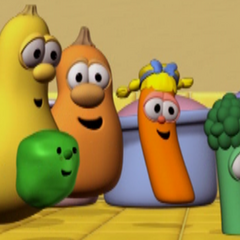 Jerry(Center) with Veggies in