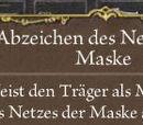 Abzeichen des Netzes der Maske