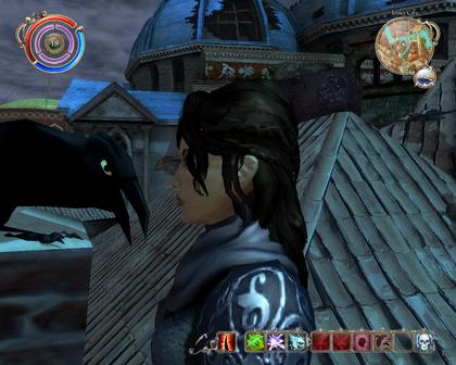 Talking to raven