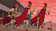Hoplites Give Chase