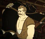 Sandow Shows Crowley the Door