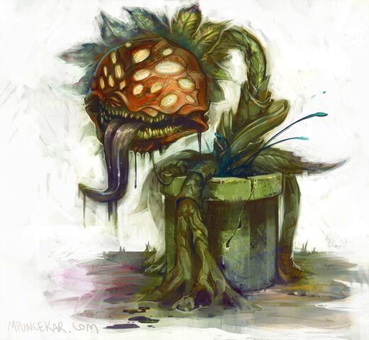 File:An-illustrated-painting-by-Mike-Puncekar-of-a-plant-monster-from-the-mario-video-games.jpg
