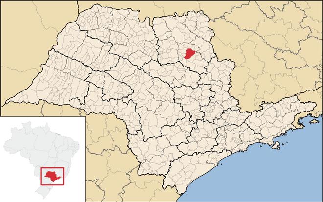 Mapa de Ribeirão Preto em São Paulo