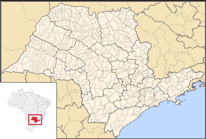 Mapa de Ferraz de Vasconcelos em São Paulo