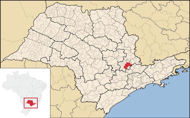 Mapa de Campinas em São Paulo