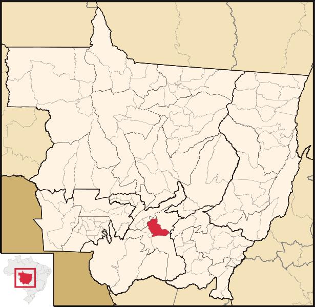 Mapa de Cuiabá em Mato Grosso