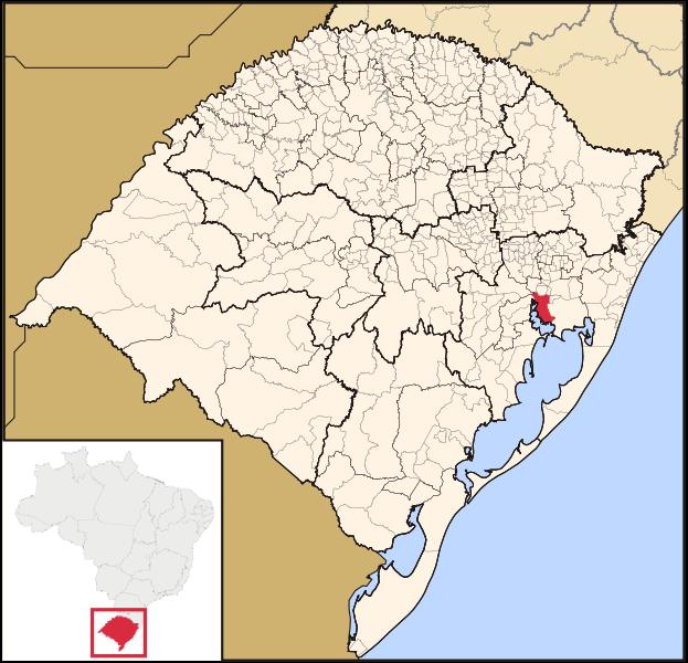 Mapa de Porto Alegre no Rio Grande do Sul