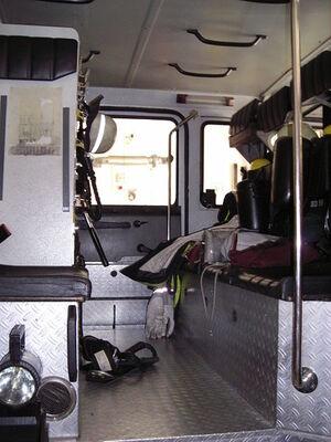 D-Cottbus Kabine eines Hilfeleistungslöschgruppenfahrzeuges 126