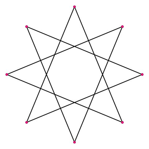 File:Regular star polygon 8-3 svg flat.png