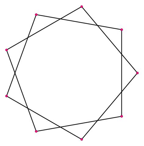 File:Regular star polygon 9-2 svg flat.png