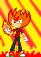 Fire Arm the hedgehog