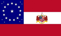 Alabama State Flag Stars and Bars Proposal Alabama Constellation Medallion Canton with State Coat of Arms Date of State Hood Designed By Stephen Richard Barlow 24 July 2014