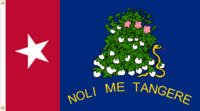 Alabama State Flag NOLI ME TANGERE Proposal Designed By Stephen Richard Barlow 10 FEB 2015 at 0901 HRS CST