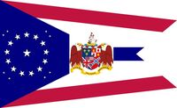 Alabama State Flag Proposal swallow tail concept 22 star Medallion Pattern Designed By Stephen Richard Barlow 26 July 2014