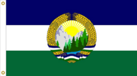 Oregon State Flag Proposal No. 8b Designed By Stephen Richard Barlow 24 MAY 2015 at 0745 HRS CST.