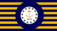 Rhode Island State Flag Proposal No 3 Designed By Stephen Richard Barlow 15 AuG 2014 at 0930hrs cst