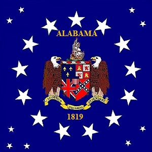 File:ALABAMA STATE FLAG Canton 1819 Coat of Arms Proposal Designed By Stephen Richard Barlow.jpg