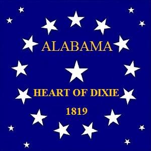 File:ALABAMA STATE FLAG 22 Star HEART OF DIXIE 1819 Canton Designed By Stephen Richard Barlow 62914.jpg