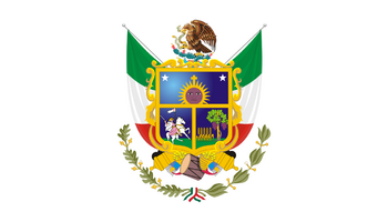 De facto flag of the State of Querétaro.
