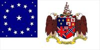 Alabama State Flag Proposal 22 Star Medallion Pattern Coat of Arms on White Field Designed By Stephen Richard Barlow 9 May 2014