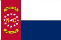 North Carolina Flag Proposal No. 16b Designed By Stephen Richard Barlow 17 MAY 2015 at 0653 HRS CST.