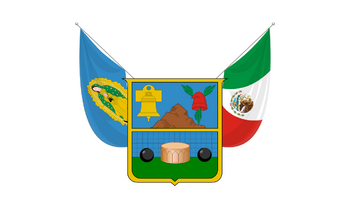 De facto flag of Hidalgo
