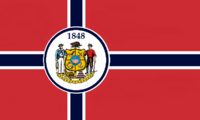 Wisconsin State Flag Proposal No 4 Designed By Stephen Richard Barlow 06 OCT 2014 at 1336hrs cst