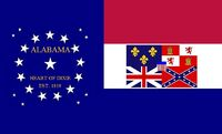 Alabama State Flag Proposal 22 Star Medallion Red White and Blue Bars Heart of Dixie State Flag No 4 Designed By Stephen R Barlow 2 Aug 2014