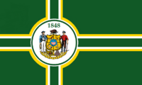 Wisconsin State Flag Proposal No 2 Designed By Stephen Richard Barlow 06 OCT 2014 at 1312hrs cst