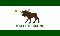Maine flag design