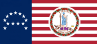 Virginia State Flag Proposal No 18 Designed By Stephen Richard Barlow 24 SEP 2014 at 1004hrs cst
