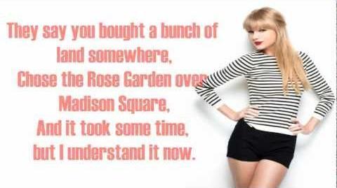 The Lucky One - Taylor Swift - Lyrics