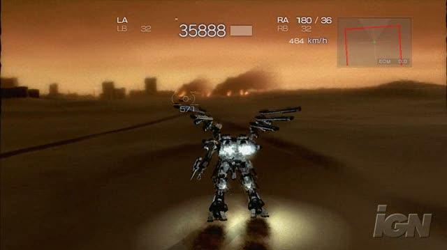 Armored Core 4 Xbox 360 Gameplay - Sneak Attack (HD)