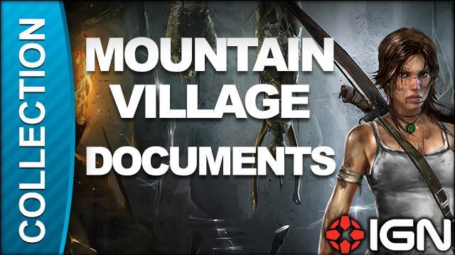 Tomb Raider Walkthrough - Document Locations Mountain Village
