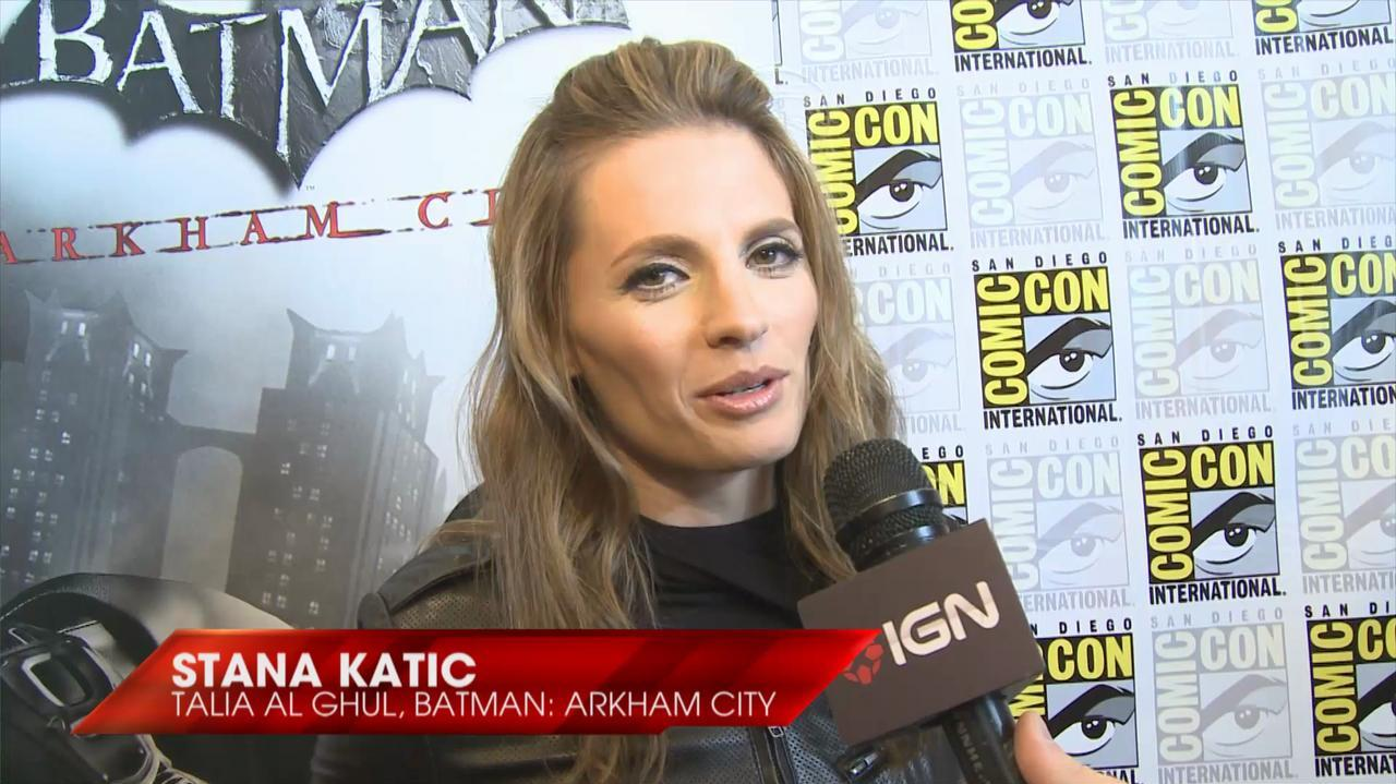 Comic Con - Batman Arkham City - Stana Katic Interview