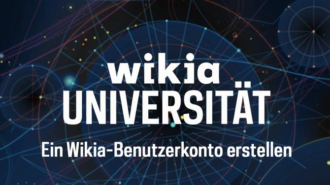 Wikia Universität - Wikia-Benutzerkonto erstellen