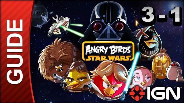 Angry Birds Star Wars Hoth Level 3-1 3 Star Walkthrough