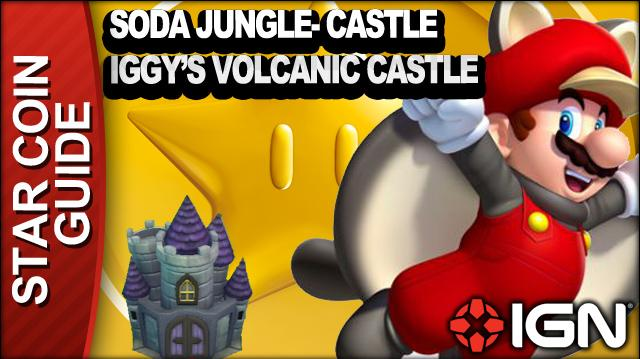 New Super Mario Bros. U 3 Star Coin Walkthrough - Soda Jungle-Castle Iggy's Volcanic Castle