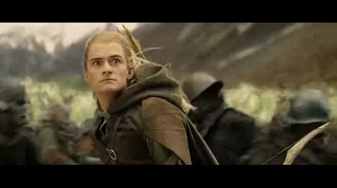 The Lord of the Rings The Return of the King - Legolas kills the elephant