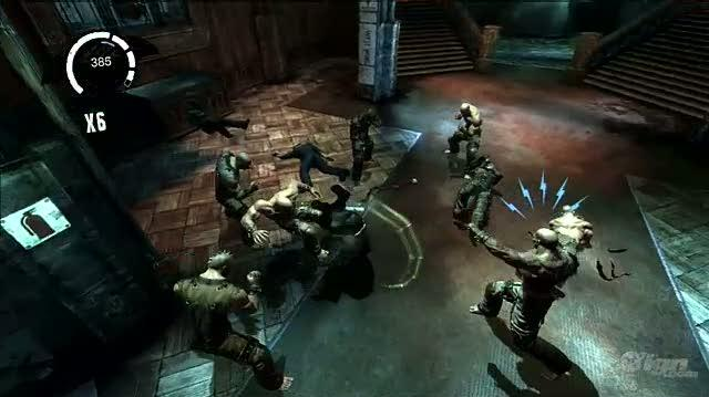 Batman Arkham Asylum PlayStation 3 Gameplay - Ninja skills (PS3 Footage)