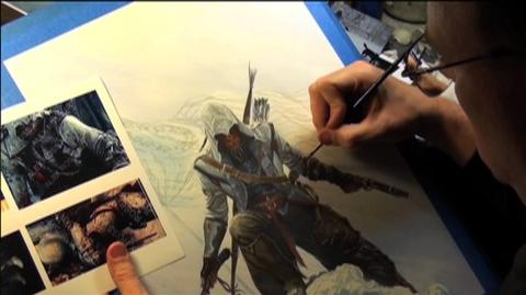 Assassins Creed III (VG) (2012) - Making Of Alex Ross Art