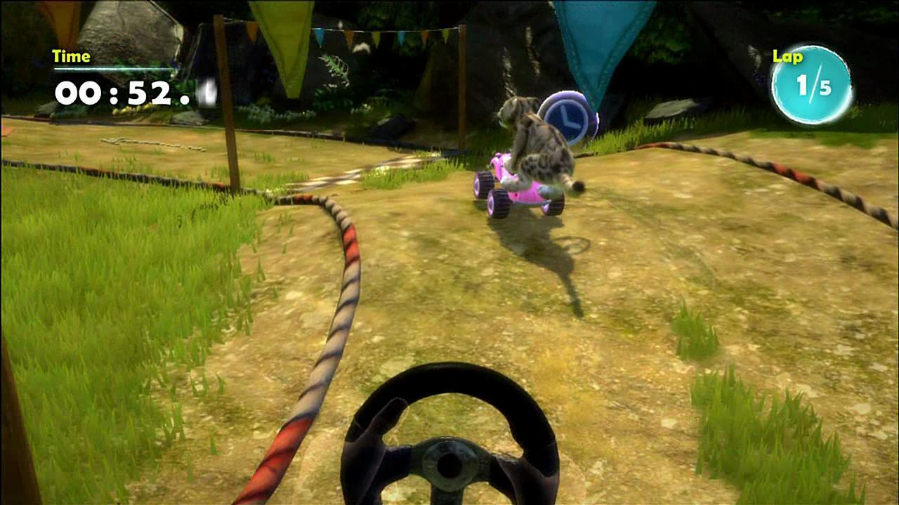 Kinectimals Kart Racing Gameplay