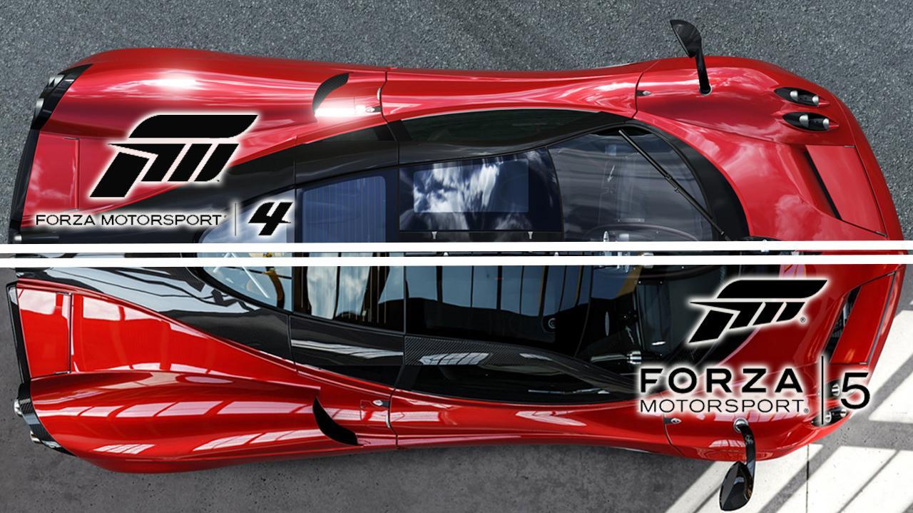 Forza 4 vs Forza 5 Graphics Comparison - Bernese Alps