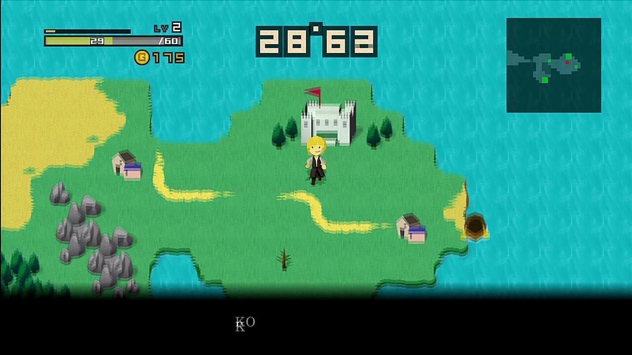 Half-Minute Hero Super Mega Neo Climax Edition Quest 1 Neo Cartoon Graphics