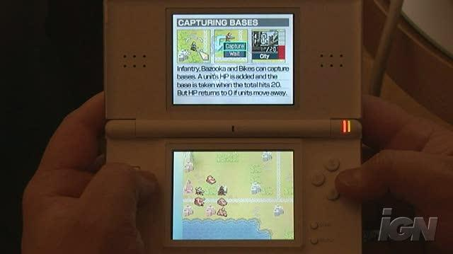Advance Wars Days of Ruin Nintendo DS Gameplay - Capturing Bases (Off Screen)