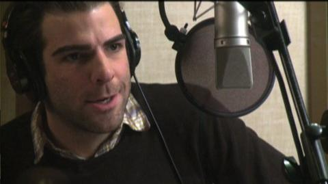 Star Trek Online (VG) (2010) - Behind the scenes Zachary Quinto voice over