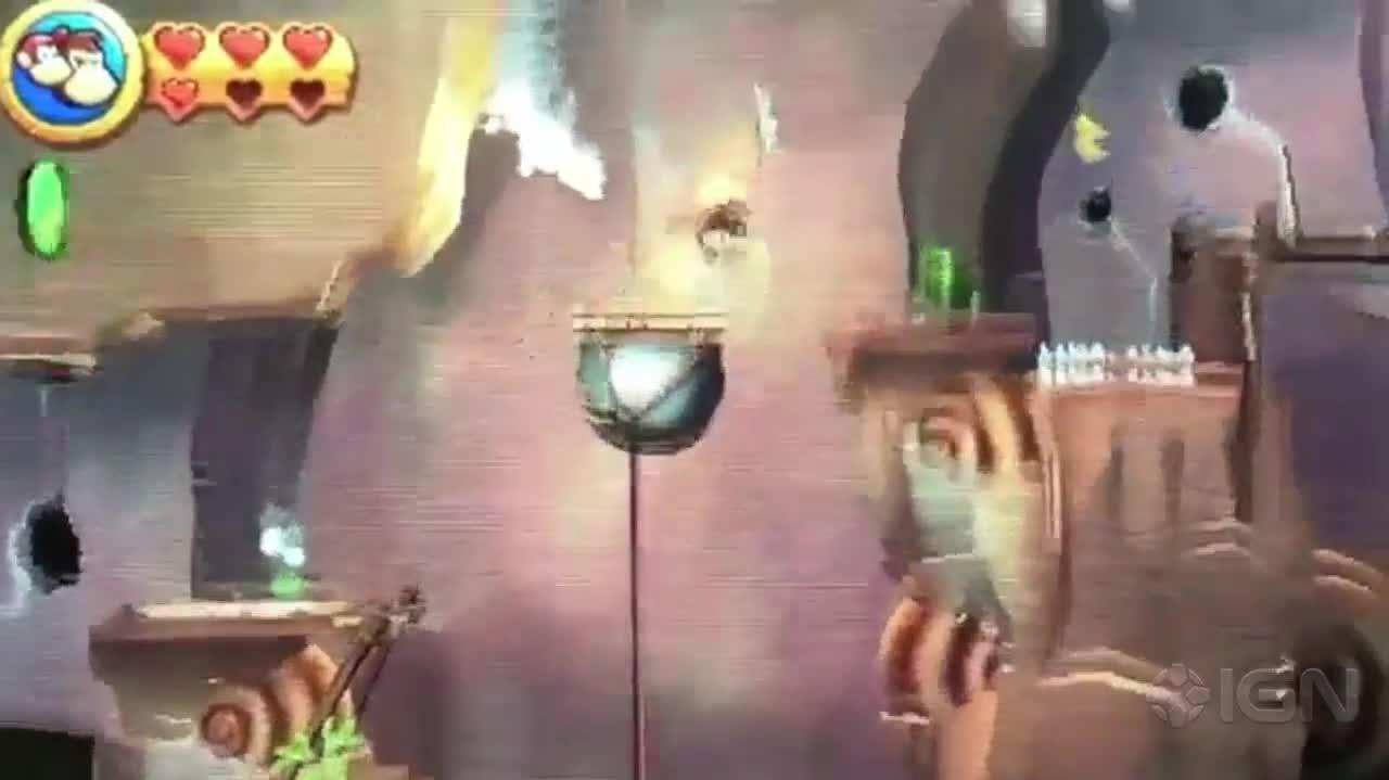 Donkey Kong Country Returns 3D Walkthrough World 9-6 Tar Ball Fall