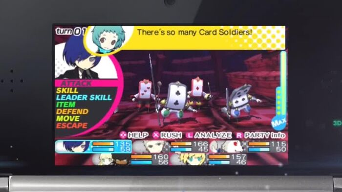 Persona Q Shadow of the Labyrinth 3DS - P3 Hero Video